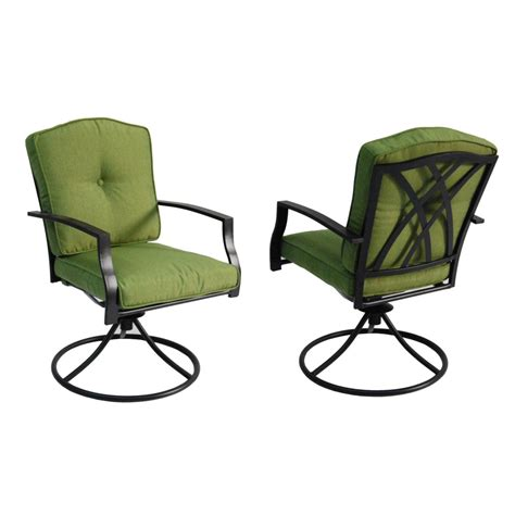 Shop Garden Treasures Set Of 2 Cascade Creek Textured Patio Set With Swivel Chairs