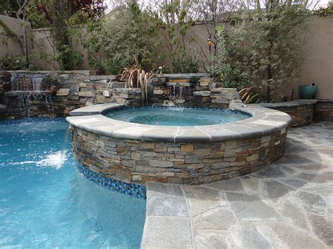 entertainment backyard with pool and spa gemini 2