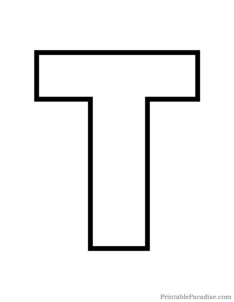 Printable Letter T Outline - Print Bubble Letter T ... T