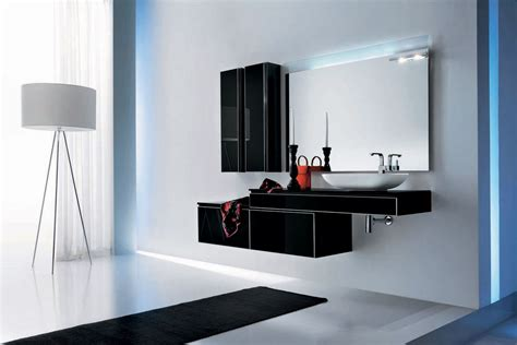 Black Modern Bathroom with Modern Black Bathroom Furniture Onyx By Stemik Living Digsdigs