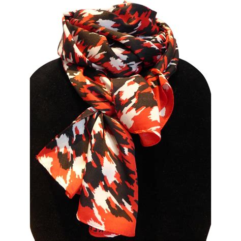 Beautiful Things From Vintage Scarves by Klein Silk Scarf From Historique On Ruby
