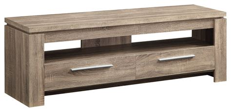 Weathered Finish TV Stand Wood Console Table 2 Drawers