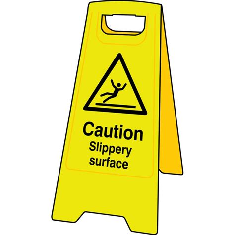 Sign Floor by Caution Slippery Surface Floor Sign Stand Janc164 Ese Direct
