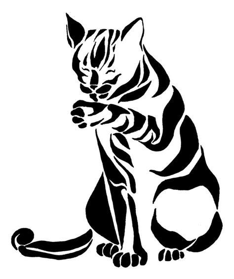 tribal cat tattoos designs tribal cat by picajosan on deviantart