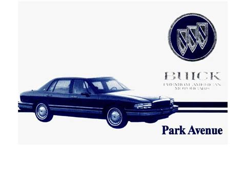 automotive repair manual 1986 buick lesabre security system service manual 1994 buick park avenue manual download 1994 buick park avenue operators