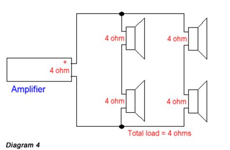 ohm load wiring diagram wiring 4 8 ohm speakers for 2 load wiring free engine image for user manual