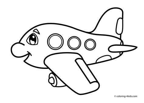 preschool coloring pages airplane funny airplane transportation coloring pages for kids