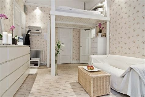 small room with high celings loft beds for adults good idea for small apartment