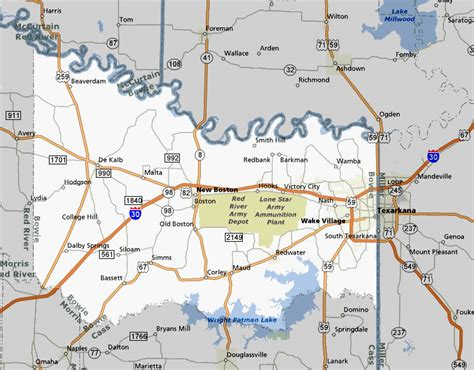 bowie county texas map texasfreeway gt statewide gt photo gallery gt piney woods region gt bowie county
