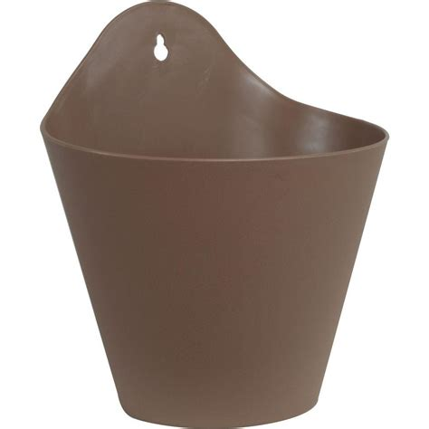 Plastic Wall Planter by Pride Garden Products Mela 8 1 2 In Taupe Plastic Wall