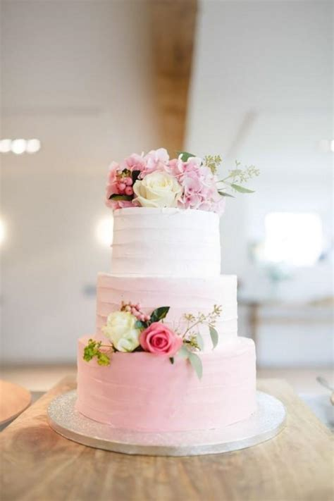 wedding cake of the day pink ombr flower wedding cake cymbeline lace wedding dress for a classic dutch wedding