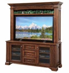 amish lincoln 68 quot tv stand with optional hutch top