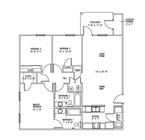 3 bdrm floor plans apartments in newburgh in floor plans
