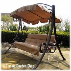 Wrought Iron Patio Swing Buy The Rimini Garden Swing Bench Hammock Direct