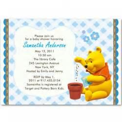 winnie the pooh baby boy shower invitations bs105
