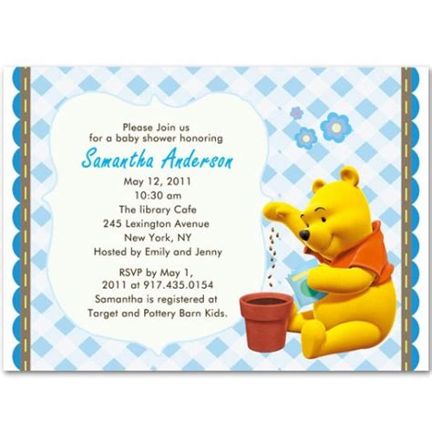 Winnie The Pooh Baby Shower Invitations by Winnie The Pooh Baby Shower Invitations Gangcraft Net