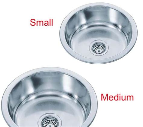 small round kitchen sinks choice medium or small round bowl inset stainless steel