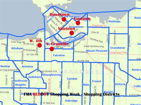 vancouver shopping map image collections diagram writing