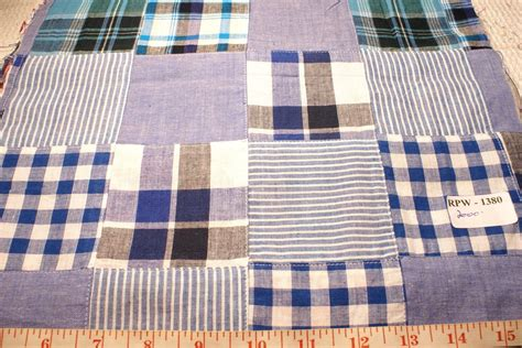 Plaid Patchwork - patchwork madras fabric made in india cotton patchwork