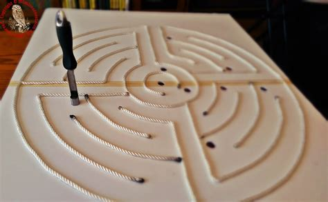 how to make a labyrinth using foam boards mom in earnest