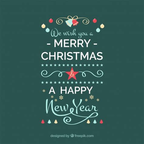 we wish you a merry christmas and a happy new year vector