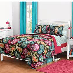 bright bedding get the bright paisley bed in a bag bedding set at walmart
