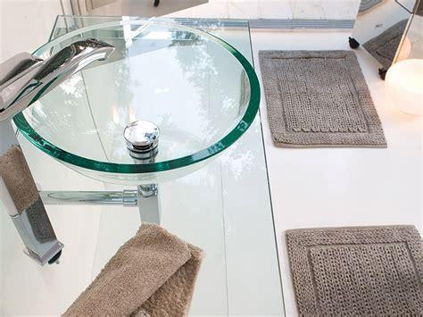 waschbecken aus glas glaswaschbecken transparent handwaschbecken rund 30cm