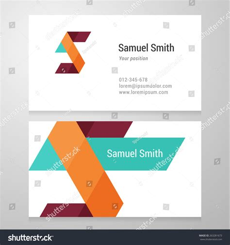 editable visiting card