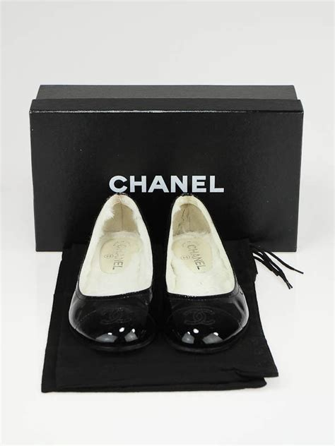 New Chanel Balerina Flat Patent Leather Black chanel black patent leather faux fur lined ballet flats size 8 38 5 yoogi s closet