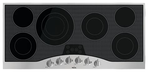 45 inch cooktop viking 3 series 45 quot electric cooktop stainless with black