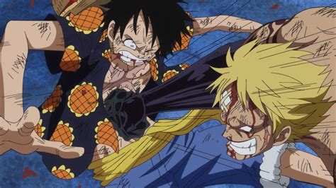 anime pirates haki guide image bellamy punches luffy with haki png one piece