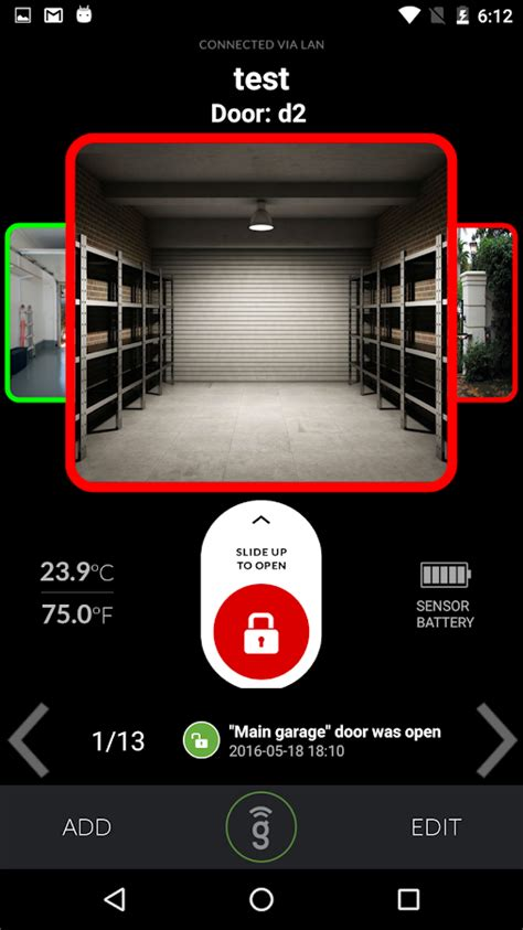 garage door opener for android gogogate 2 open garage door android apper p 229 play