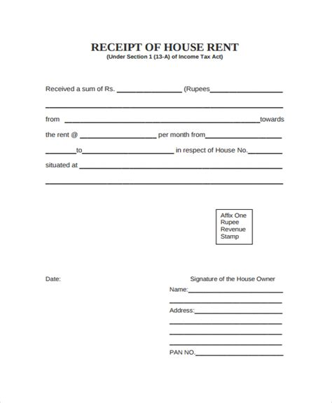 invoice for rent ricdesign