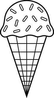 cone coloring page cone cone chocolate sprinkles coloring