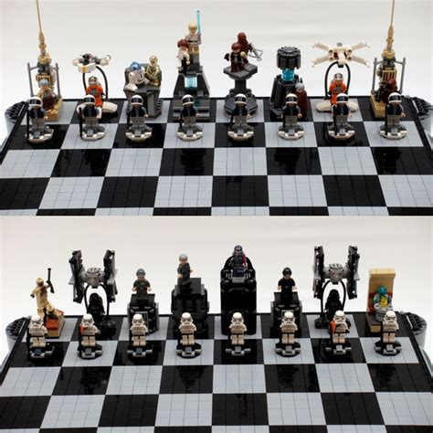 star wars chess sets lego star wars chess set awesome giggles pinterest