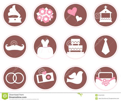 wedding design elements vector retro wedding design elements and icons stock vector