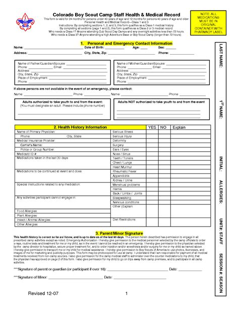 bsa form bsa form templates free printable