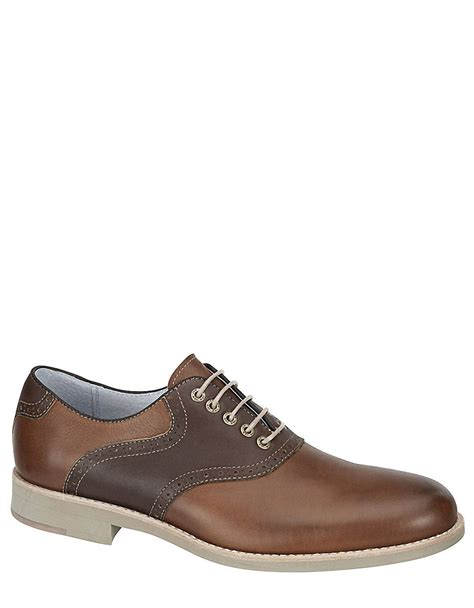johnston and murphy brown shoes johnston murphy ellington saddle shoes in brown for