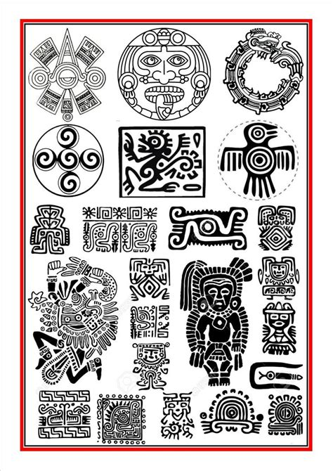 aztec tattoo designs free the 25 best aztec symbols ideas on alchemy