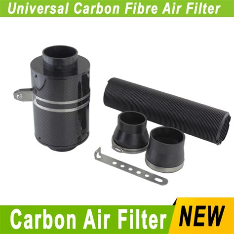 Terlaris Carbon Air Intake Set Filter Udara Carbon Termasuk Slang Dan aliexpress buy universal racing carbon fiber kricng cold feed induction kit air intake kit