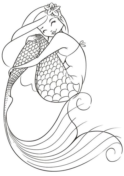 Printable Mermaid Coloring Pages Adult Coloring Pages Mermaid Coloring Home by Printable Mermaid Coloring Pages