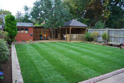 Ideas For Back Gardens Sr Landscapes New Back Garden With Gazebo Sr Landscapes