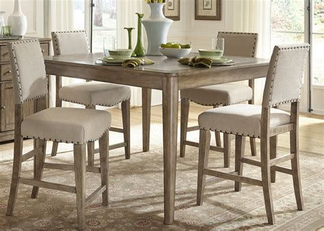 rustic casual 5 gathering table set by liberty