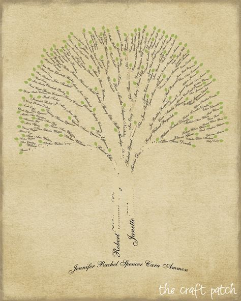 How To Make A Family Tree On Paper For - the craft patch family tree