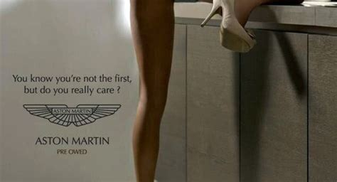 used aston martin ad i feel as though this is ineffective visual verbal