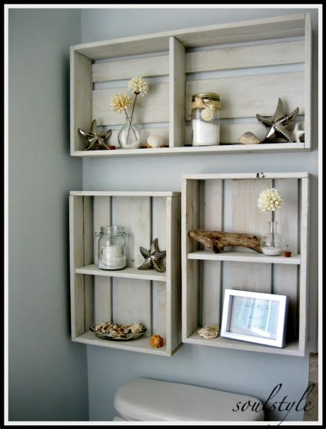 diy space saving bathroom shelves  storage ideas