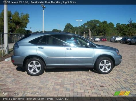 lexus light blue breakwater blue metallic 2008 lexus rx 350 light gray