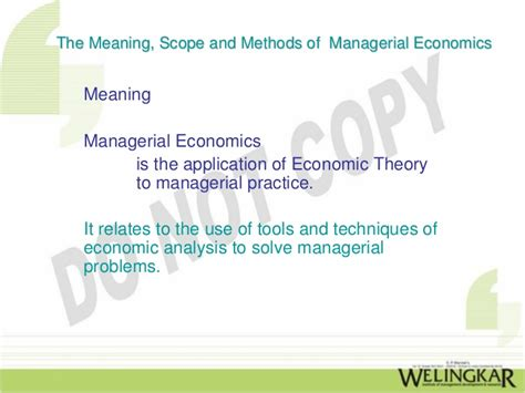 Nature And Scope Of Managerial Economics Mba by Managerial Economics Meaning Scope And Methods Of