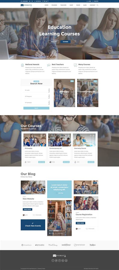themes wordpress learning education pack learning education wordpress theme
