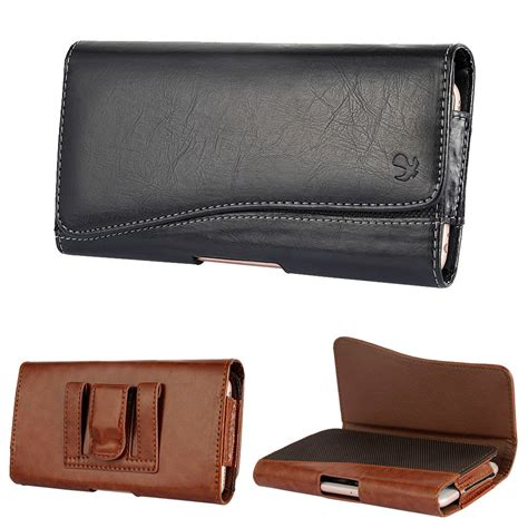 leather holster belt clip carrying pouch for iphone